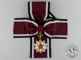A Royal Order of Independence of Jordan; Grand Cross Sash Badge