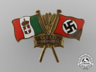 A Second War Germany/Italy Friendship Badge by S. Johnson