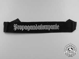 A Second War German Propagandakompanie Cuff Title
