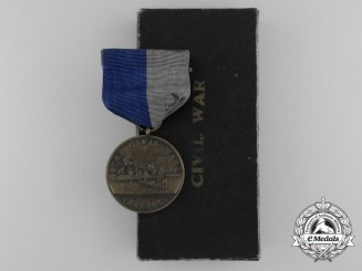 An American Navy Civil War Campaign Medal to USS Sabine, North Carolina and Virginia