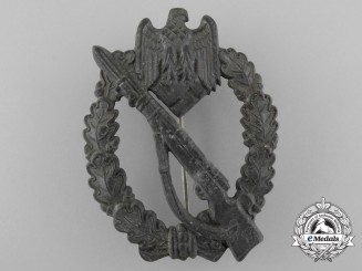 A German Second War Infantry Assault Badge; Silver Grade