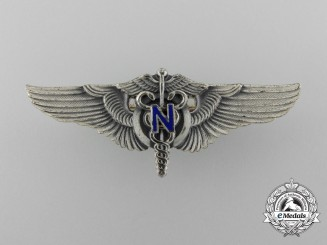 A Scarce Second War US Army Air Forces Flight Nurse Wing in Silver