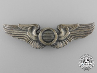 A Second War American Aircraft Observer Badge in Silver