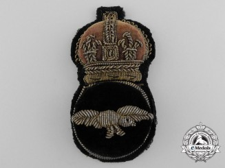 A Royal Air Force (RAF) Warrant Officer 2nd Class/NCO's Cap Badge