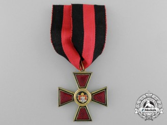 An Imperial Russian Order of St. Vladimir; Civil Division, 4th Class, circa 1916-17