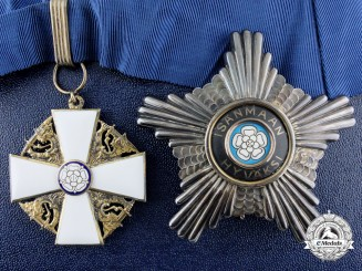 An Order of the White Rose of Finland; 1st Class Commander Set with Case