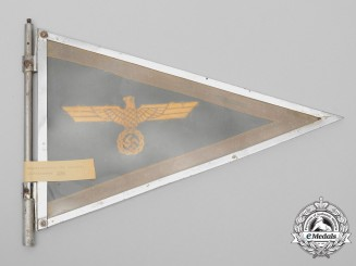 The Seized Vehicle Pennant of Generalmajor Wolfgang von Holwede; Operation Valkyrie