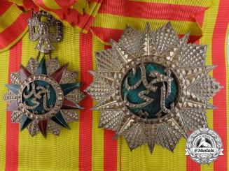 A Tunisian Order of Nichan Iftikhar; Grand Cross Set by Arthus Bertrand, Paris