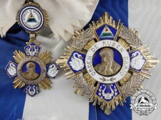 Nicaragua. An Order of Ruben Dari,; Grand Cross with Gold Star, c.1955