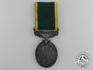 An Efficiency Medal with Canada Scroll to the 17th Hussars