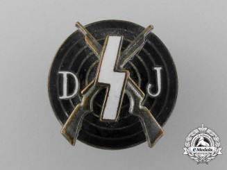 A Deutsche Jugend (DJ) Shooting Award Badge by Eugen Schmidhaussler
