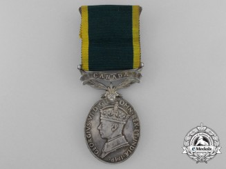 An Efficiency Medal with Canada Scroll to the Royal Canadian Artillery