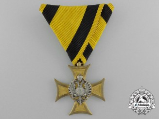A Hungarian Made Austrian Military Long Service Decoration; 3rd Class