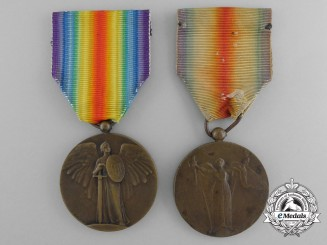 Two First War Unofficial French Victory Medals