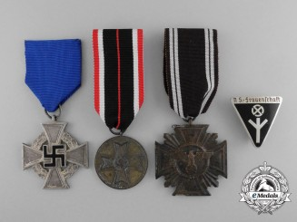 A Lot of Four Second War German Awards, Medals and Decorations