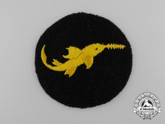 A Scarce Proficiency Badge in Cloth of the Kriegsmarine Small Battle Unit