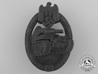 A Bronze Grade Tank Badge; Marked