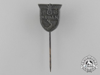 A German War Kuban Shield Miniature Stickpin Award