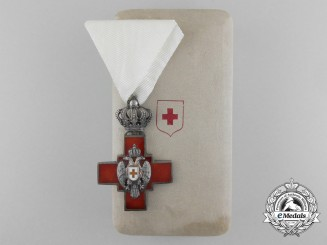 A Serbian Cross of the Red Cross Society 1882-1941 with Case of Issue