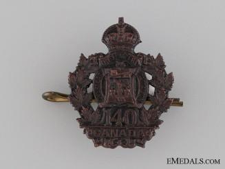 Canada. WWI 140th Infantry Battalion Collar Tab CEF