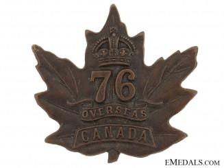 WWI 76th Infantry Battalion Cap Badge