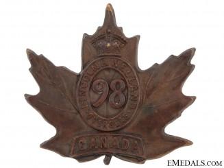 98th Battalion Cap Badge, CEF
