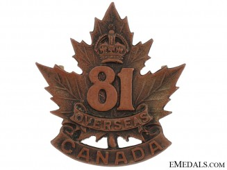 81st Battalion (Toronto) Cap Badge, CEF