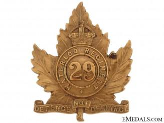 29th (Waterloo) Regiment Officer's Cap Badge,