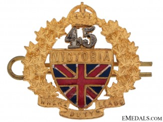 45th (Victoria County) Regiment Badge