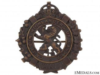 43rd Cameron Highlanders Cap Badge, CEF