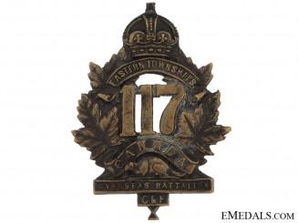 117th Bn (Eastern Townships) Cap Badge, CEF