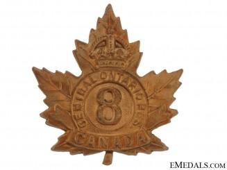 8th Cental Ontario Reserve Regiment Cap Badge