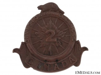 2nd Divisional Cyclist Company Cap Badge, CEF