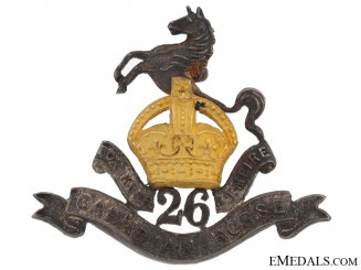 26th Canadian Horse (Stanstead Dragoons) Officer's Collar Badge