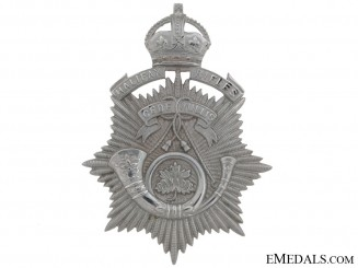 An Officer's Halifax Rifles Helmet Plate