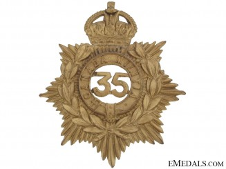 35th (Simcoe) Battalion of Infantry Helmet Plate