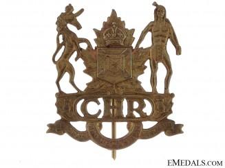 Colchester & Hants Regiment Cap Badge, 1922