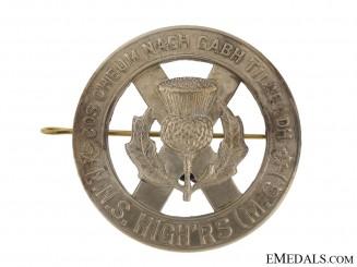 North Nova Scotia Highlanders Glengarry Badge