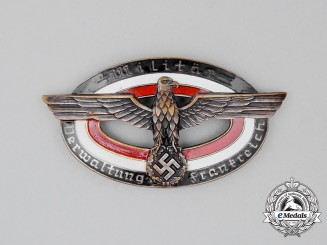Germany, Wehrmacht. A Military Administration Badge for France; Numbered