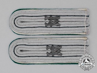 A Matching Pair of Wehrmacht Heer Administrative Official Shoulder Boards