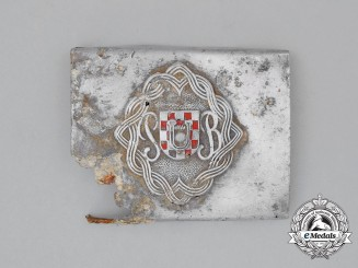 A Second War Croatian Reserve Battalion (Pripremna Bojna) Belt Buckle