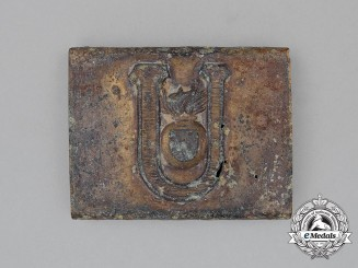 A Croatian Ustasha Belt Buckle; Ground Found
