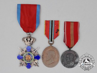 Three Romanian Medals and Awards