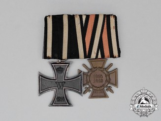 A First War German Iron Cross Medal Bar Grouping