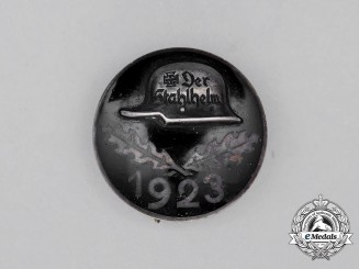 A 1923 Der Stahlhelm Membership Badge; Silver