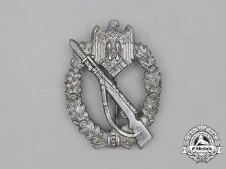 A Second War German Silver Grade Infantry Assault Badge by Sohni Heubach & Co