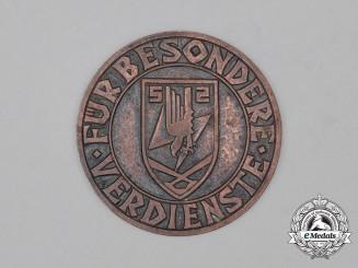 Germany, Luftwaffe. A 1941 Flak Floodlight Proficiency Table Medal