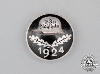 A 1924 Der Stahlhelm Membership Badge; Silver