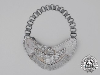 A Recovered Second War Hungarian (Army) Military Police Gorget