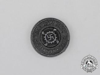 A Third Reich Period KDF Franken Region Celebration Badge